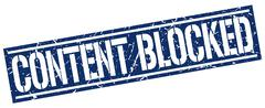 Content blocked square grunge stamp Stock Illustration