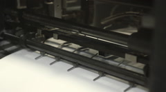 Printing Office Press Machine Stock Footage