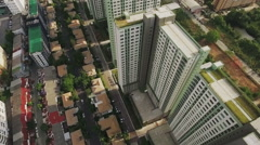 Aerial View Condominium and Residential Area Stock Footage