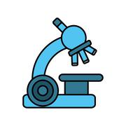 Microscope device isolated icon Piirros