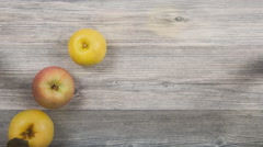 Timelapse of making an apple juice in close up view Stock Footage