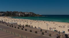 Bondi Beach Time lapse - summers Day Stock Footage