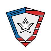 United states of america shield Stock Illustration
