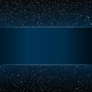 Starry night sky. Stars, sky, night. Blue stripe. Stock Illustration