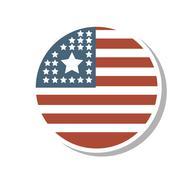 United states of america medal Stock Illustration