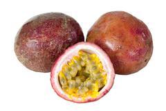 Passion fruit fresh isolated Stock Photos