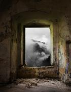 Abandoned place with a view Stock Photos