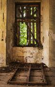 Old abandoned window Stock Photos