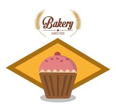 Muffin of bakery design Stock Illustration