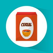 Cereal and breakfast design Stock Illustration