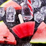 Homemade ice lolly Stock Photos