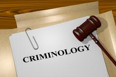 Criminology - academic concept Stock Illustration