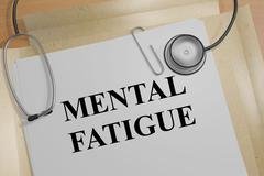 Mental Fatigue concept Stock Illustration