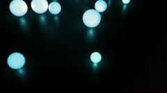 Abstract 4k motion graphics with light balls Stock Footage