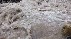 River with a fast current Stock Footage