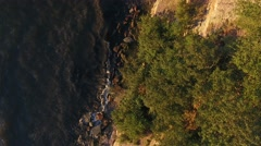 Aerial view to cliff and baltic sea in estonia Stock Footage