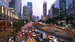 Time lapse of heavy traffic in Jakarta city Stock Footage