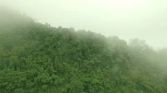 Aerial View Misty Mountain Forest on the Doi Phuka Stock Footage