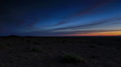 Sunrise over the canyon Bayanzag, Mongolia. Full HD Stock Footage
