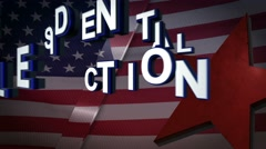 Presidential Election 2016 3D Motion Graphics With American Flag Background Stock Footage
