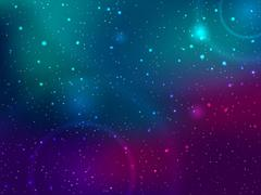 Space background with stars and patches of light. Abstract astronomical galaxie Stock Illustration