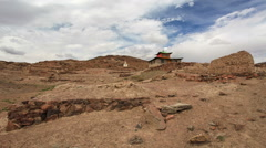 Clouds above the Ongi Monastery, Mongolia. Full HD Stock Footage