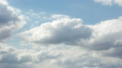 White Clouds in the Blue Sky cloudscape, in a day time Stock Footage