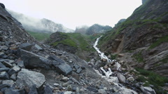 River in the Caucasus mountains Stock Footage