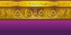 Gold border in the ancient Greek style Stock Illustration