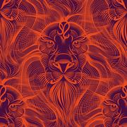 Repaint seamless pattern: fiery Leo Stock Illustration