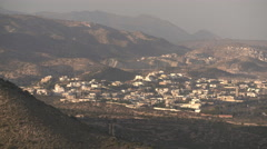 General view of city and mountains of Agadir Stock Footage