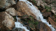 Waterfall in the rocky mountains Stock Footage