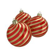 Red and gold decorative Christmas balls. Isolated New Year image. Stock Illustration
