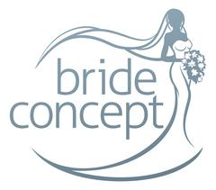 Bride Silhouette Holding Bouquet Concept Stock Illustration