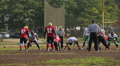 Offense team attacking defense, the beginning of American football match HD Footage