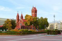 Catholic Church of Saints Simon and Helena, Minsk, Belarus Stock Photos