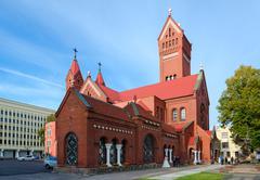Church of Saints Simon and Helena (Red Church), Minsk, Belarus Stock Photos
