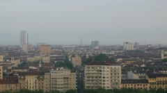 Panoramic view of Turin Stock Footage