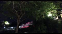 4k Ultra HD video of Anderson bridge with scenic night illumination, Singapore Stock Footage