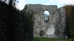 Reading Abbey Ruins in the bleak Stock Footage