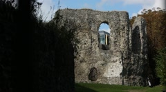 Reading Abbey Ruins in the sun Stock Footage