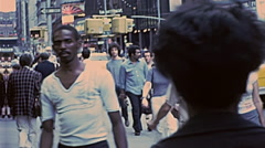 New York 1977: people walk in Broadway Stock Footage