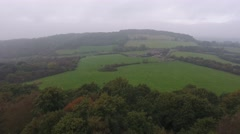 Aerial view of a farm in the English countryside. Stock Footage