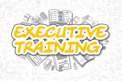 Executive Training - Cartoon Yellow Text. Business Concept Stock Illustration