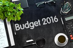 Black Chalkboard with Budget 2016 Concept. 3D Rendering Piirros
