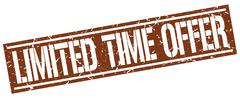 Limited time offer square grunge stamp Stock Illustration