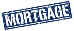 Mortgage square grunge stamp Stock Illustration