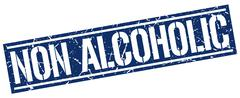 Non alcoholic square grunge stamp Stock Illustration