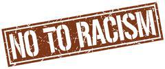 No to racism square grunge stamp Stock Illustration