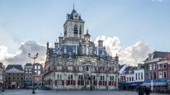 Stadhuis van Delft Stock Footage